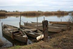 Houten boten Stock Foto's
