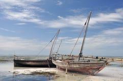 Houten boten Royalty-vrije Stock Fotografie