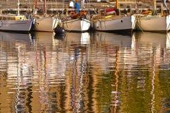 Houten boten in Hobart Stock Foto