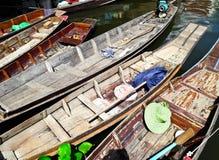 Houten boten in Thailand Stock Afbeelding