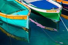 Houten boten, Zuiden van Frankrijk Royalty-vrije Stock Fotografie