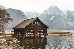 Houten botenhuis Royalty-vrije Stock Afbeelding