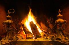 Houten brand Stock Afbeelding
