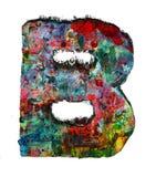 Houten brieven B stock afbeelding
