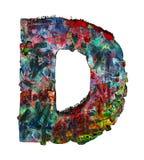 Houten brieven D stock afbeelding
