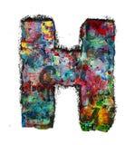 Houten brieven H royalty-vrije stock afbeeldingen