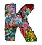 Houten brieven K royalty-vrije stock afbeelding