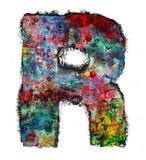 Houten brieven R royalty-vrije stock afbeeldingen