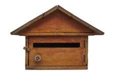 Houten brievenbus Royalty-vrije Stock Afbeeldingen