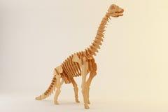Houten brontosaurus Royalty-vrije Stock Foto's