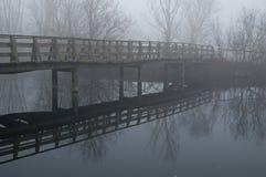 Houten brug, oasepo Delta, Italië Stock Foto