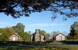 Houten cabines stock afbeeldingen