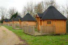 Houten cabines royalty-vrije stock afbeeldingen