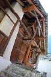 Houten chalet stock foto