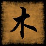 Houten Chinese Kalligrafie Vijf Elementen Royalty-vrije Stock Afbeelding