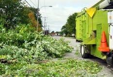 Houten chipper vrachtwagen Stock Afbeeldingen