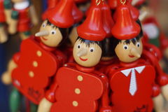 Houten cijfers Pinocchio Royalty-vrije Stock Foto's