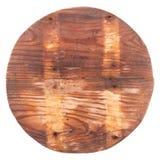 Houten cirkel met lichte strepen Stock Foto's