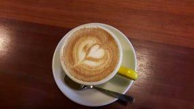 Houten Coffealiefde royalty-vrije stock afbeeldingen
