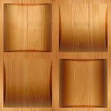 Houten coffered met panelen bekleden gestapeld voor achtergrond stock afbeelding