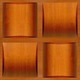 Houten coffered met panelen bekleden gestapeld voor achtergrond Royalty-vrije Stock Foto