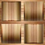 Houten coffered met panelen bekleden gestapeld voor backgroun Stock Afbeelding