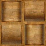 Houten coffered met panelen bekleden gestapeld voor naadloze achtergrond Stock Afbeeldingen