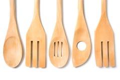 Houten cookware Stock Fotografie