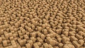 Houten 3d mozaïek stock illustratie