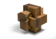 Houten 3D raadsel Stock Fotografie