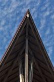 Houten dak Royalty-vrije Stock Afbeeldingen