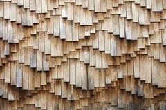 Houten dakspanentextuur Stock Foto