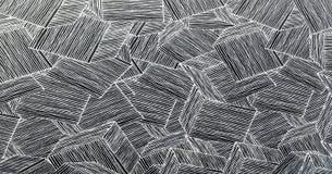 Houten de decoratieachtergrond van de muurmeetkunde Abstracte geometrische achtergrond van het hout Abstract behang Royalty-vrije Stock Foto