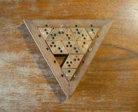 Houten de Driehoeksraadsel van de Kleurengelijke Stock Afbeelding
