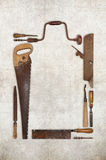 Houten de hulpmiddelentimmerman die van het collagewerk een kader vormen Royalty-vrije Stock Afbeelding