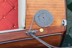 Houten de motorboot van de luxe - details royalty-vrije stock fotografie