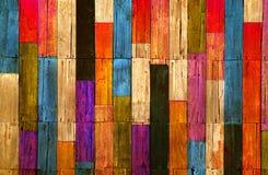 Houten de muurachtergrond van de kleur Stock Afbeeldingen
