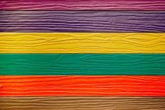 Houten de muurachtergrond van de kleur Royalty-vrije Stock Foto