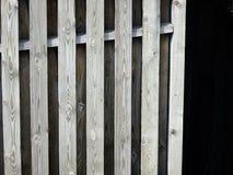 Houten de schaduw houten korrel van het omheiningsdetail Stock Fotografie