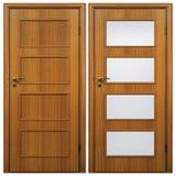 Houten deur 05 Royalty-vrije Stock Afbeeldingen
