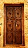 Houten deur royalty-vrije stock afbeelding