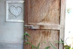 Houten deur stock afbeeldingen