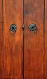 Houten deur Stock Foto's