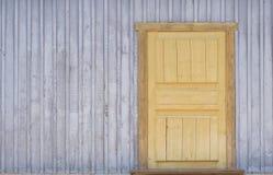 Houten deur Stock Foto