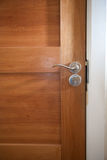 Houten deur dichte omhooggaand Stock Foto's