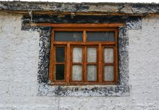 Houten deur van oude tempel royalty-vrije stock foto's