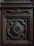 Houten deurfragment Royalty-vrije Stock Afbeeldingen