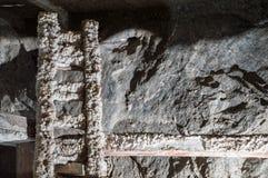 Houten die ladder door zout wordt behandeld royalty-vrije stock afbeelding