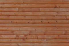 Houten die muur van planken wordt gemaakt stock afbeelding