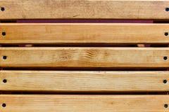 Houten die paneel van geverniste planken wordt gemaakt stock afbeelding